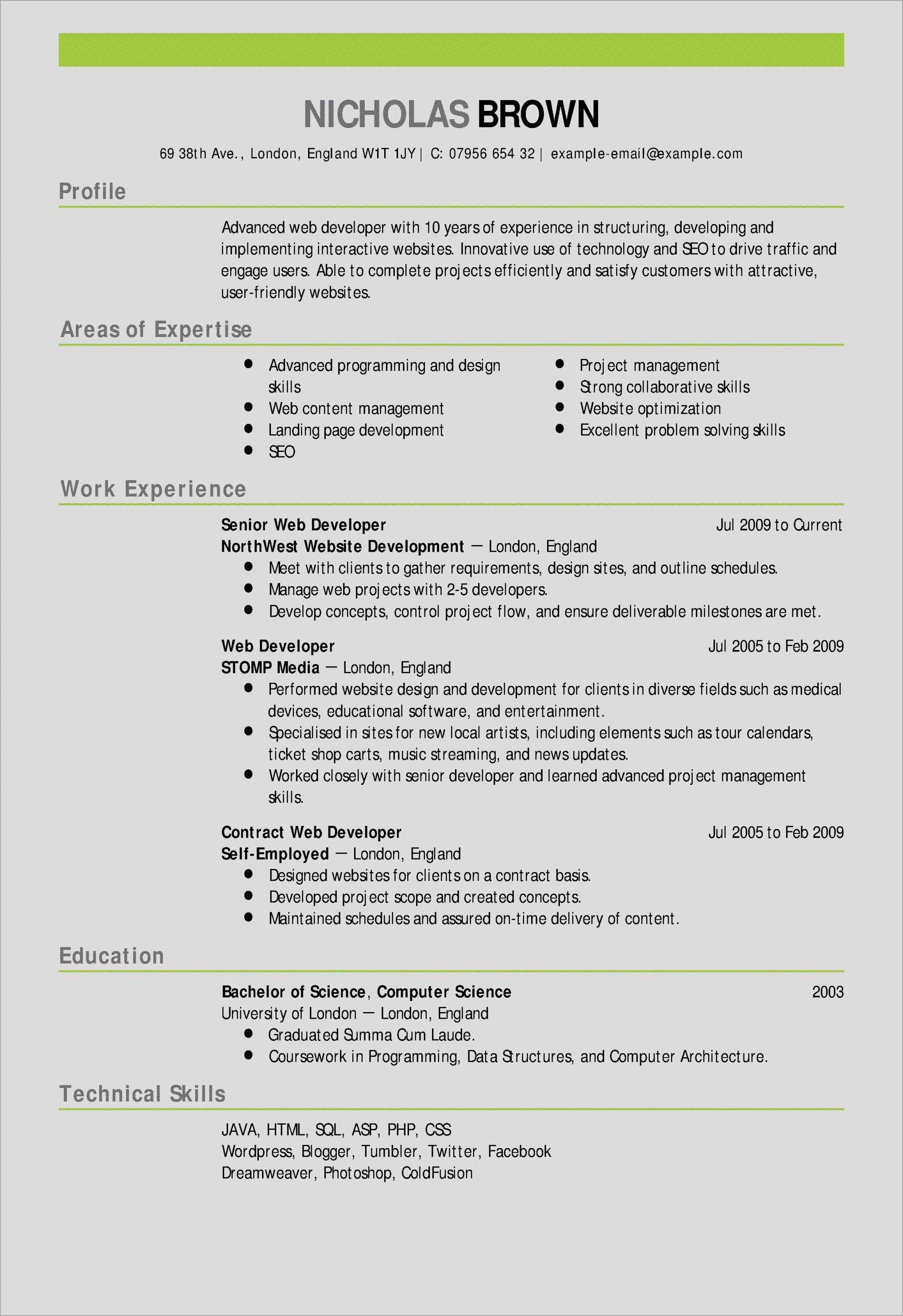 Resume Template Libreoffice Resume Word New Awesome Examples Resumes