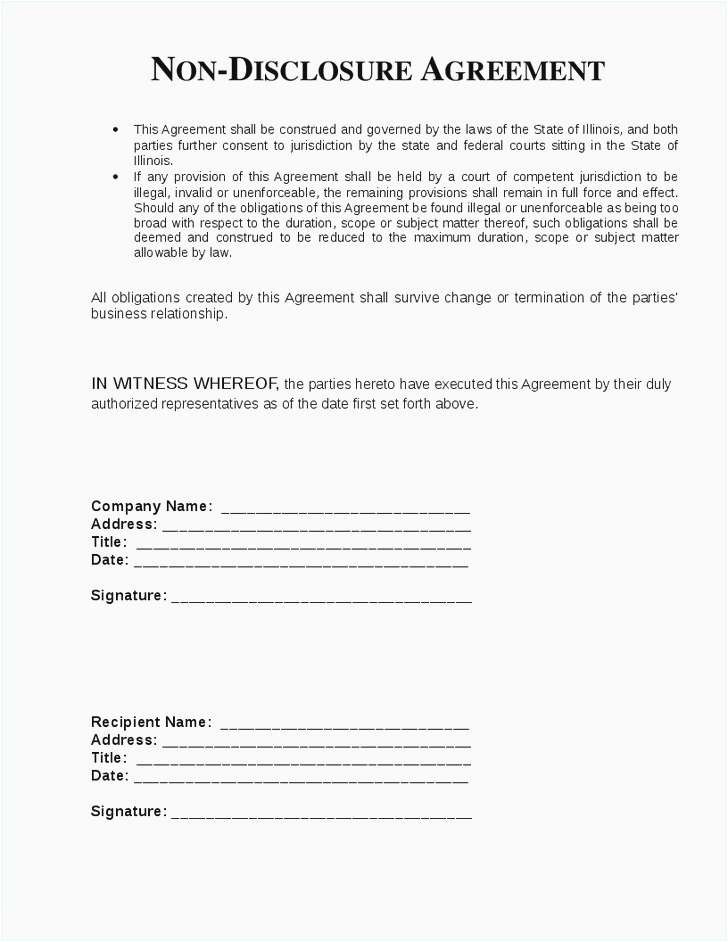 Non Disclosure Agreement Template Inspirational Legal Confidentiality Agreement Template